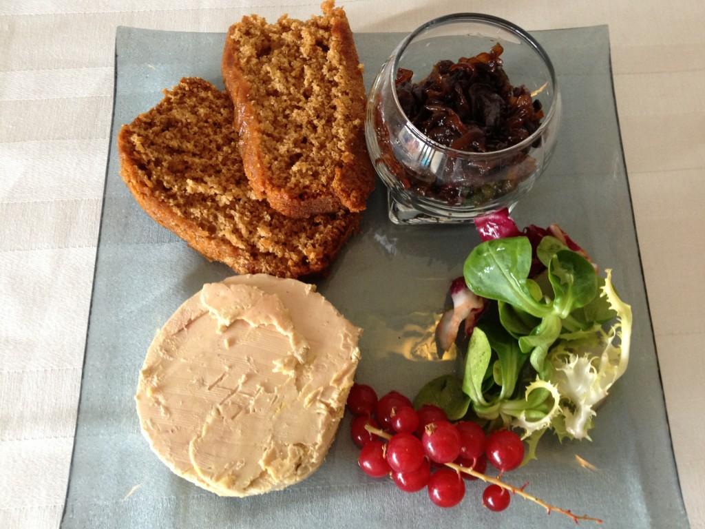 Confits d oignon maison pain d'épice foie gras