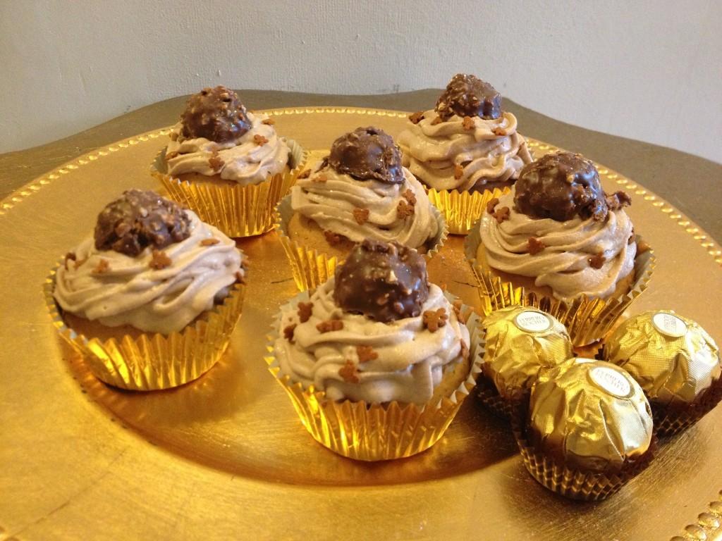 Cupcakes Ferrero Rocher et chantilly au Nutella