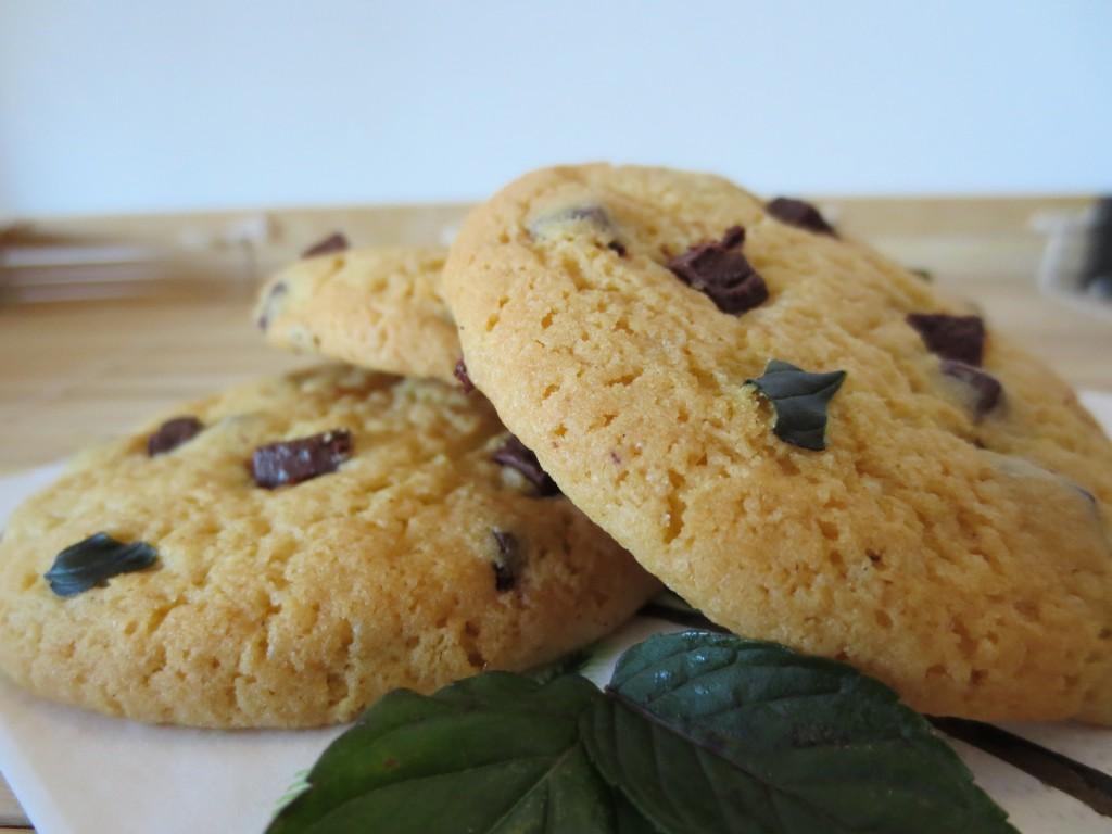 Cookies aux pépites de chocolat et à la menthe fraîche