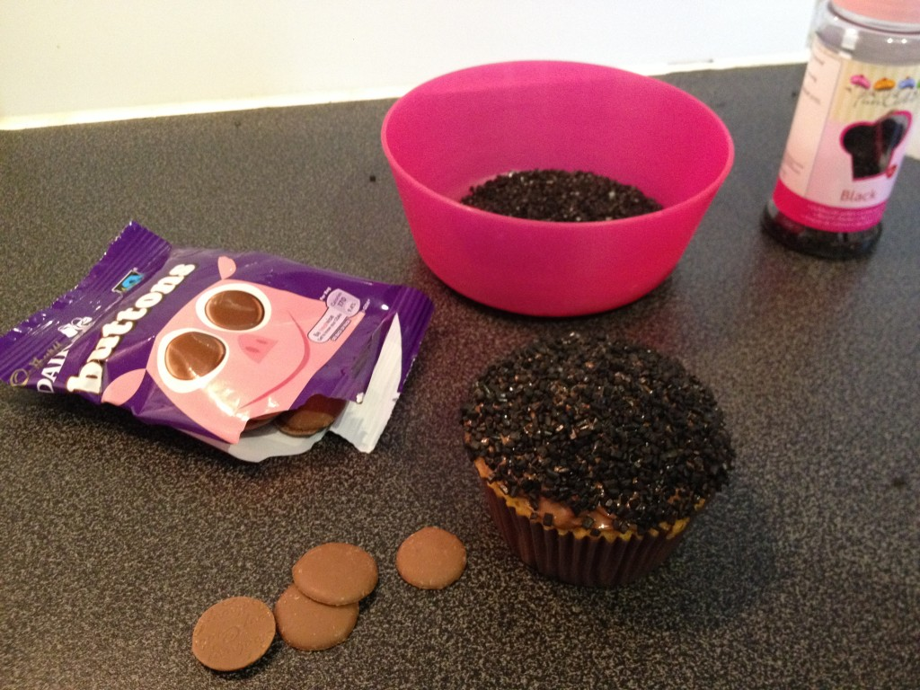 Cupcakes Minnie d'Halloween