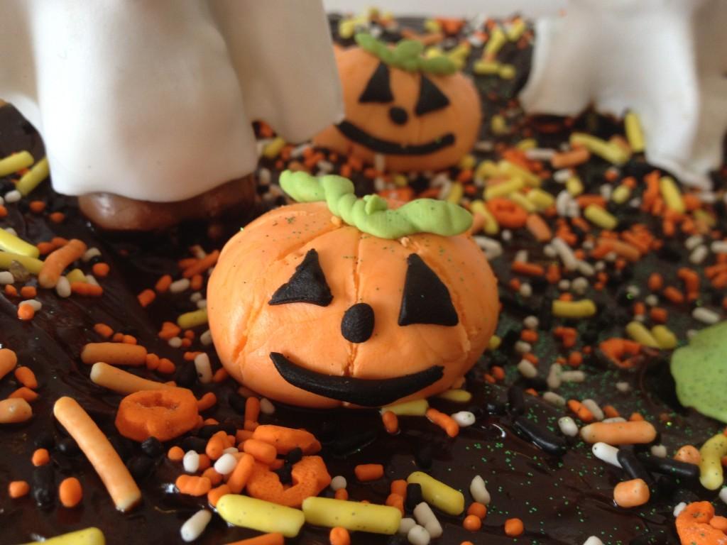Fondant au chocolat pour Halloween