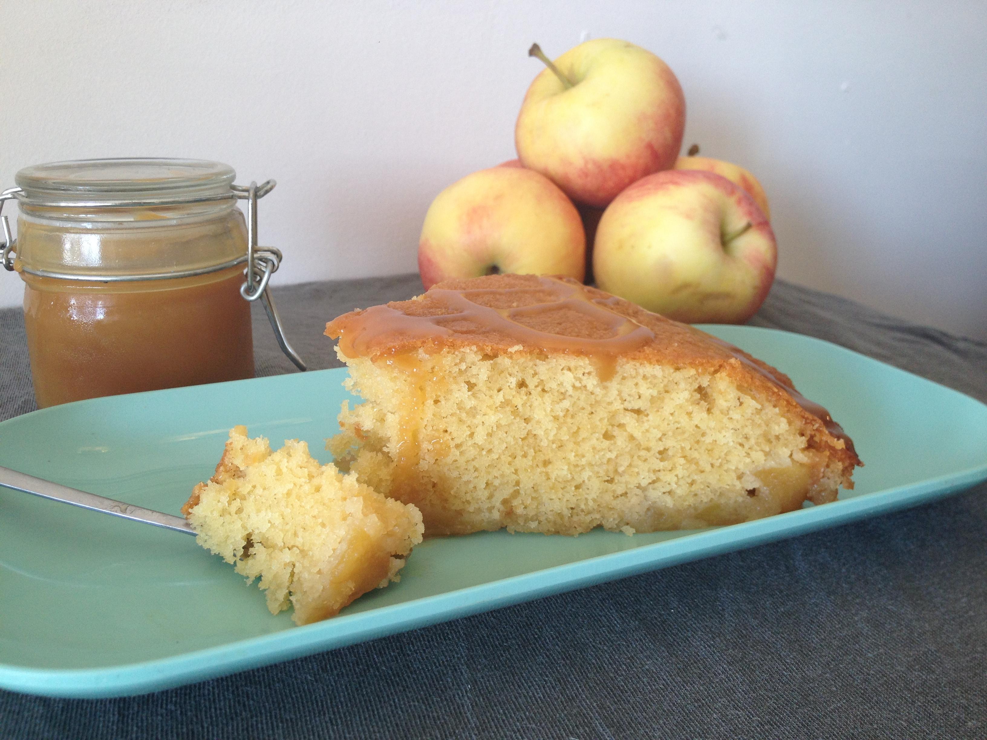 quatre quart aux pommes fa on tatin et caramel au beurre. Black Bedroom Furniture Sets. Home Design Ideas