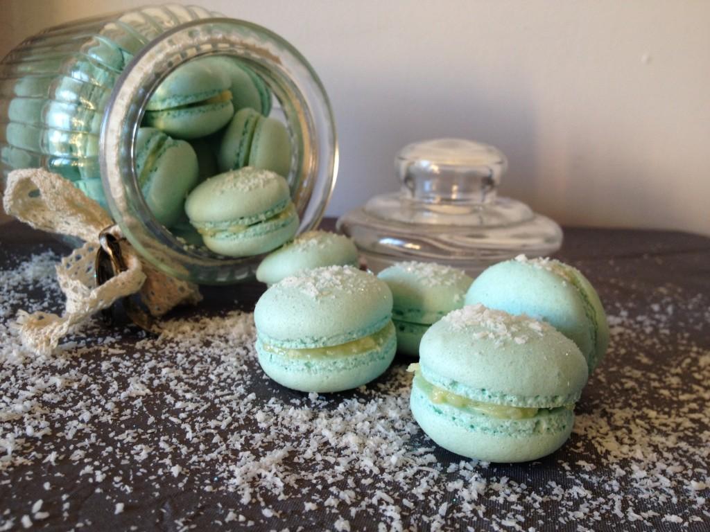 macarons ganache chocolat blanc noix de coco