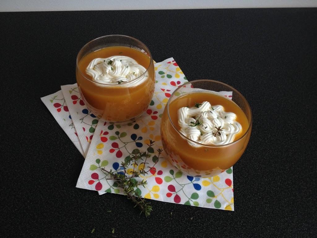 soupe de carotte et chantilly au thym battle food 16 tizi cooks