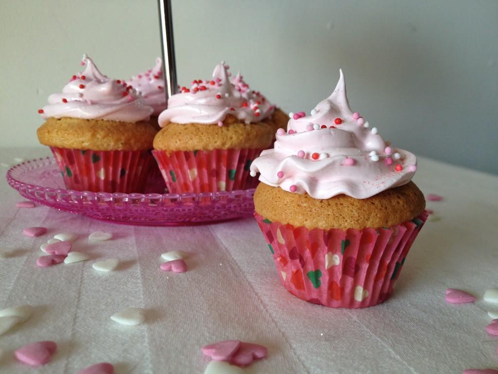 Cupcakes de St Valentin : Vanille cœur spéculos