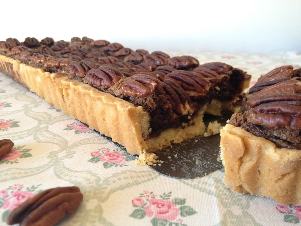 tarte chocolat noix de p can tizi cooks. Black Bedroom Furniture Sets. Home Design Ideas