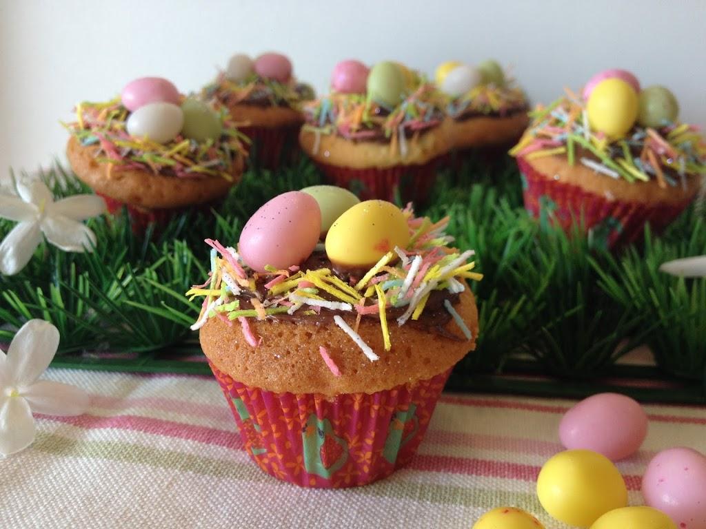 cupcakes, nutella, recette sucrée, recette pour pâques, cupcakes pâques, easter cupcakes