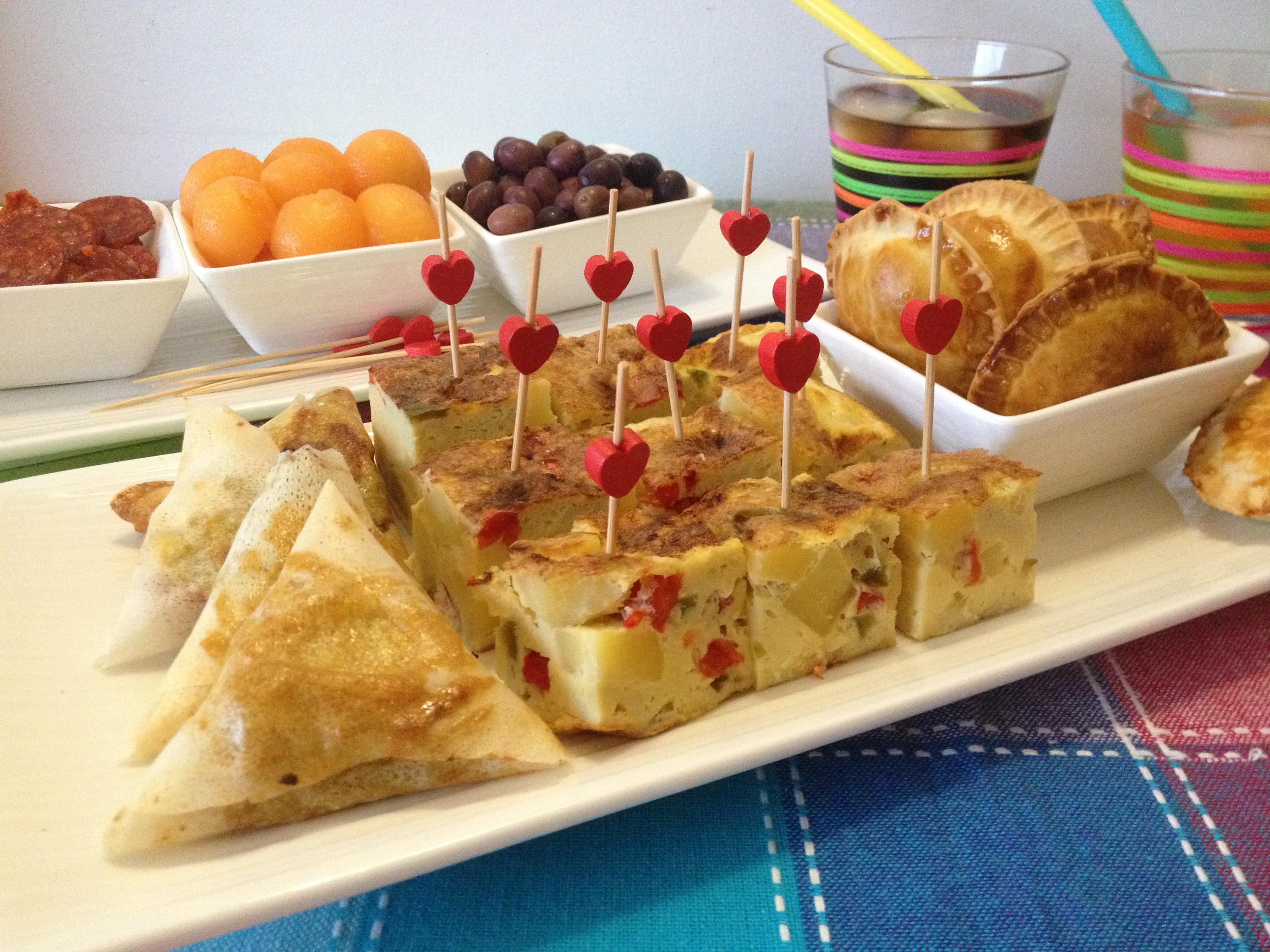 Tortilla aux poivrons tapas