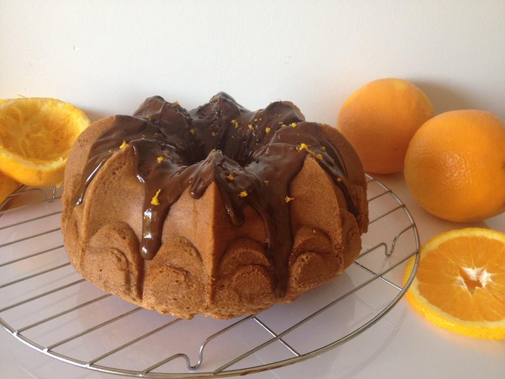Bundt cake orange chocolat