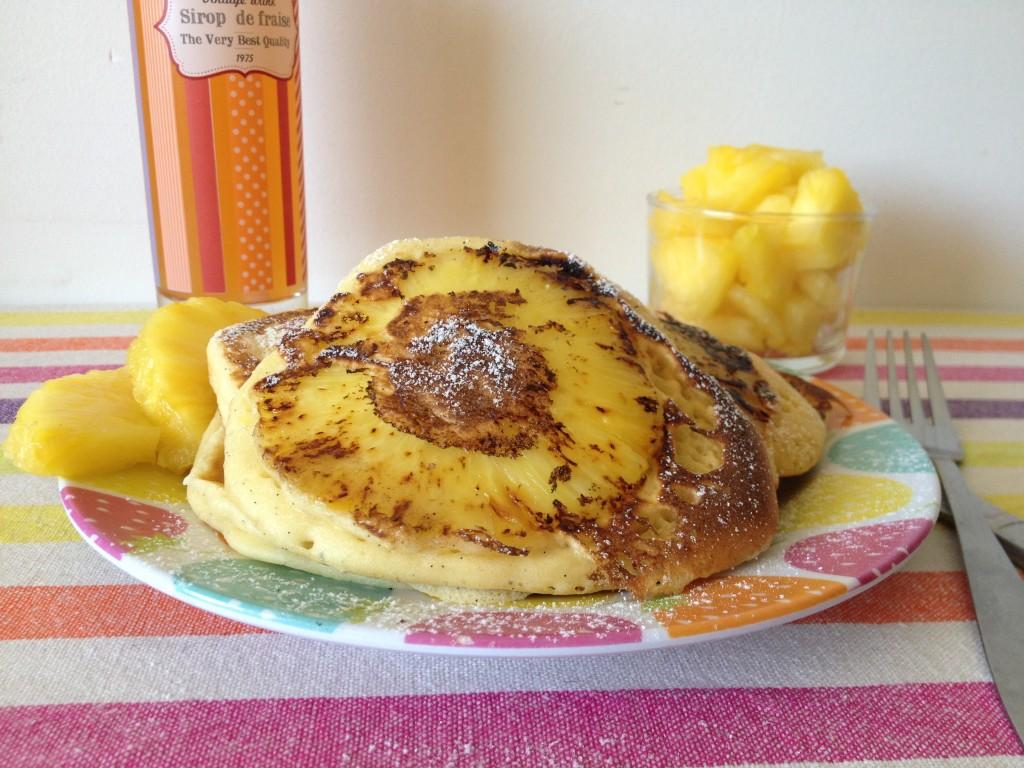 Pancakes à l'ananas