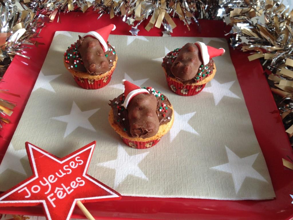 Cupcakes de Noël : chamallow, Nutella, ourson à la guimauve