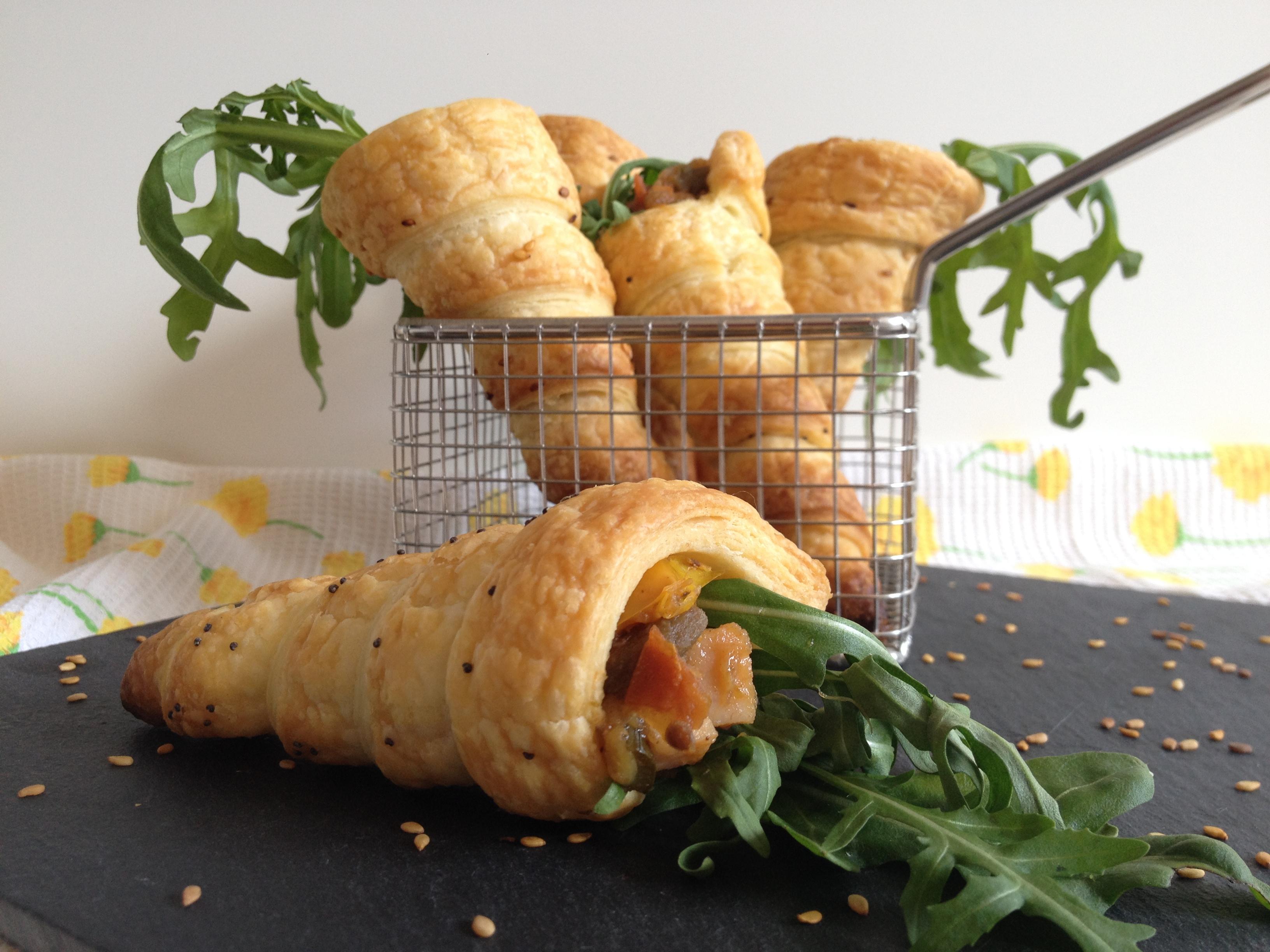 Cornets feuilletés poulet ratatouille – Idée apéro pour Pâques ...