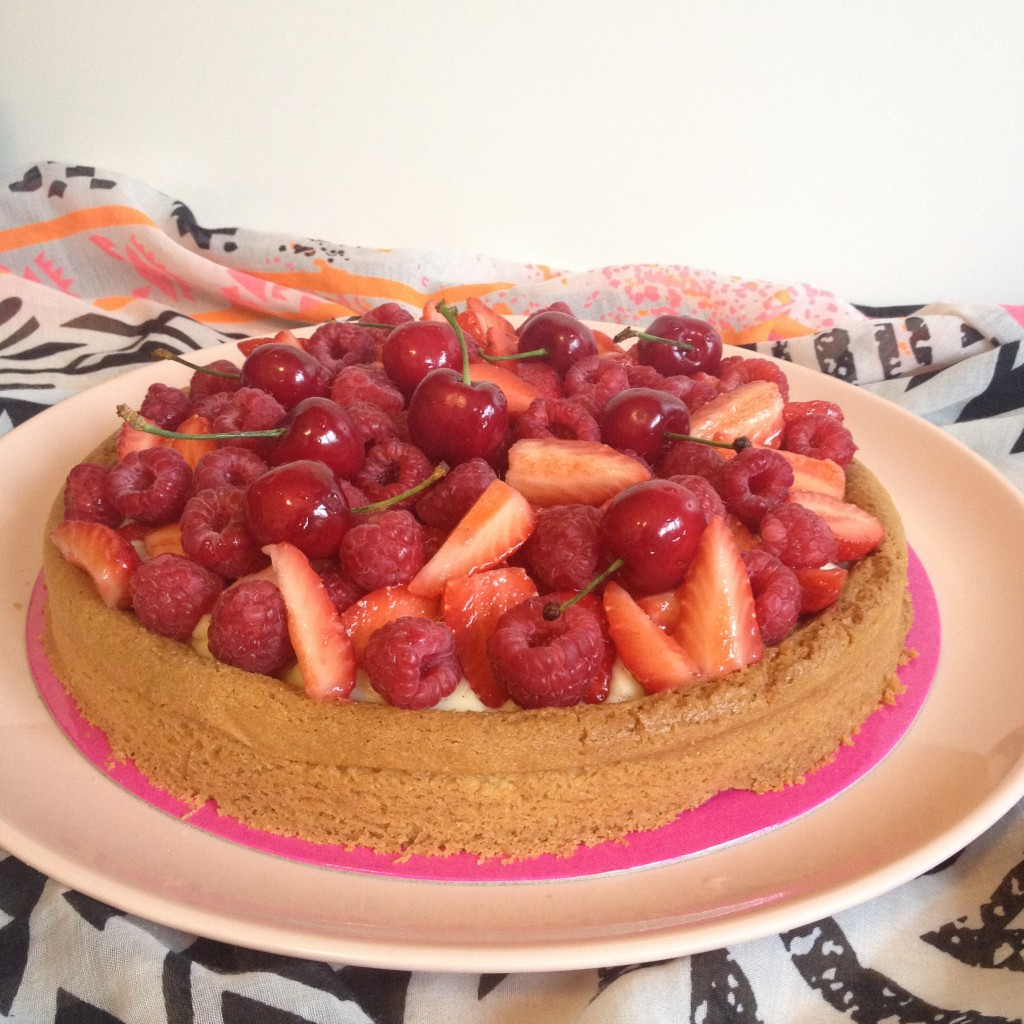 Tarte aux fruits rouges - Tizi Cooks