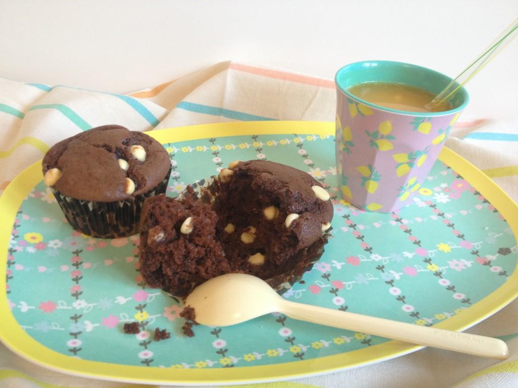 Muffins double chocolat - Tizi Cooks