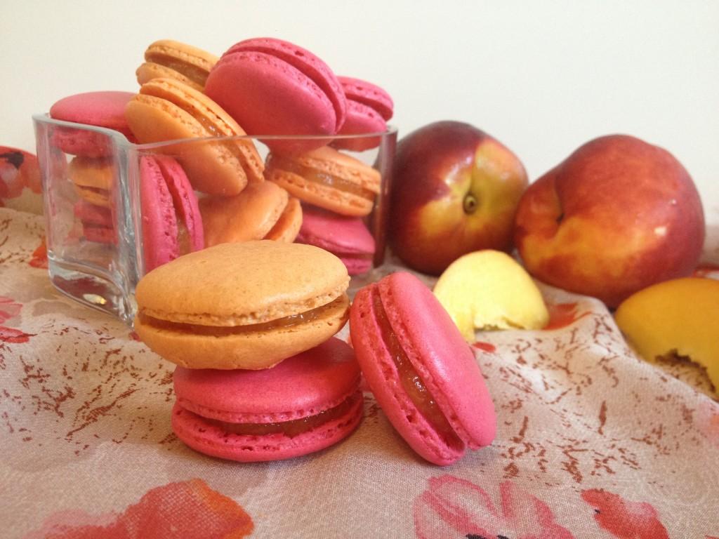 Macarons nectarine - Tizi Cooks