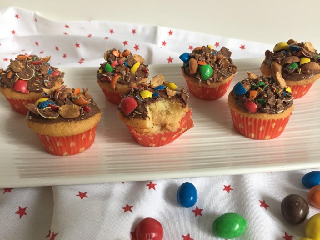 Cupcakes M&m's et beurre de cacahuètes