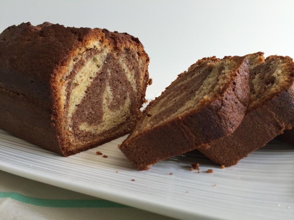 Cake marbré banane Nutella