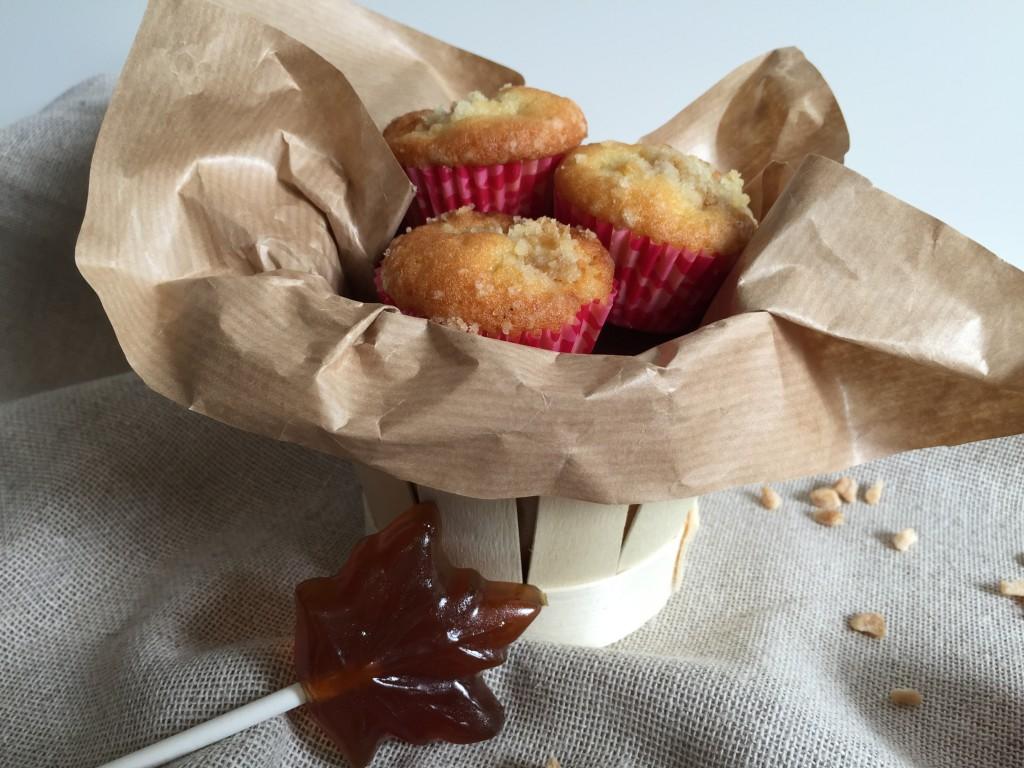 Mini muffins aux pommes et crumble à l'érable