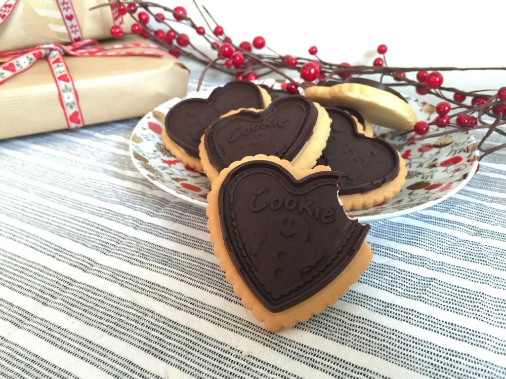 Petits beurre de Noël au chocolat noir