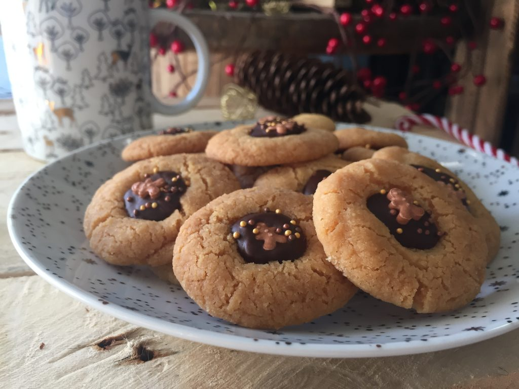 Biscuits de Noël cœur chocolat