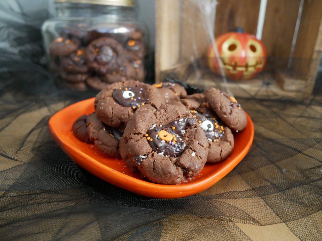 Biscuits moelleux chocolat noix de coco pour Halloween